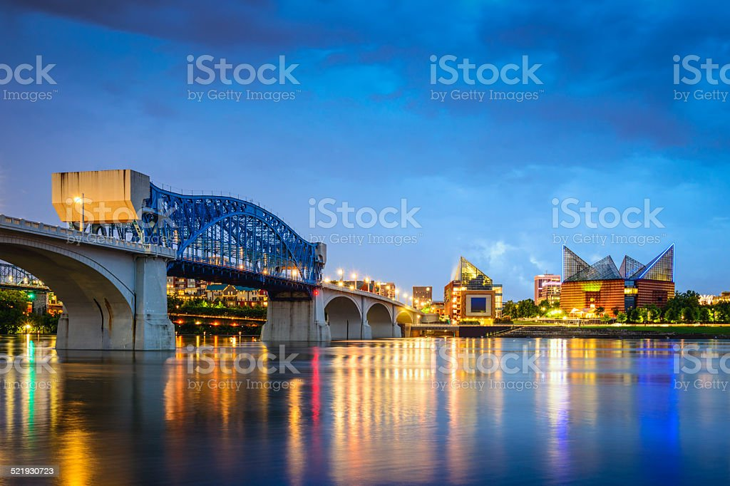 Chattanooga, Tennessee Skyline stock photo