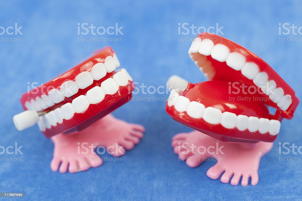 Chatter teeth royalty-free stock photo