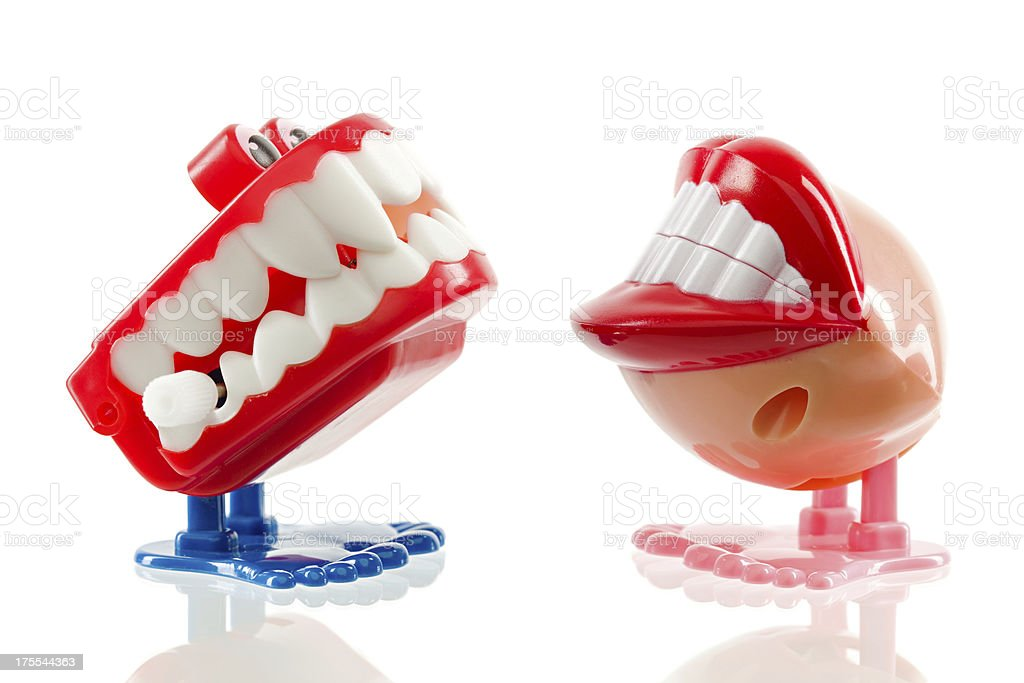 Chatter teeth stock photo