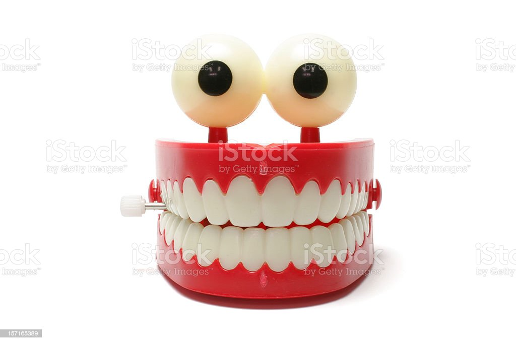 Chattering Teeth stock photo