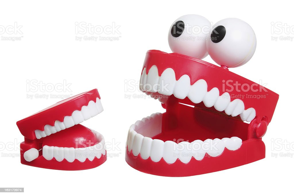 Chattering Teeth Toy stock photo