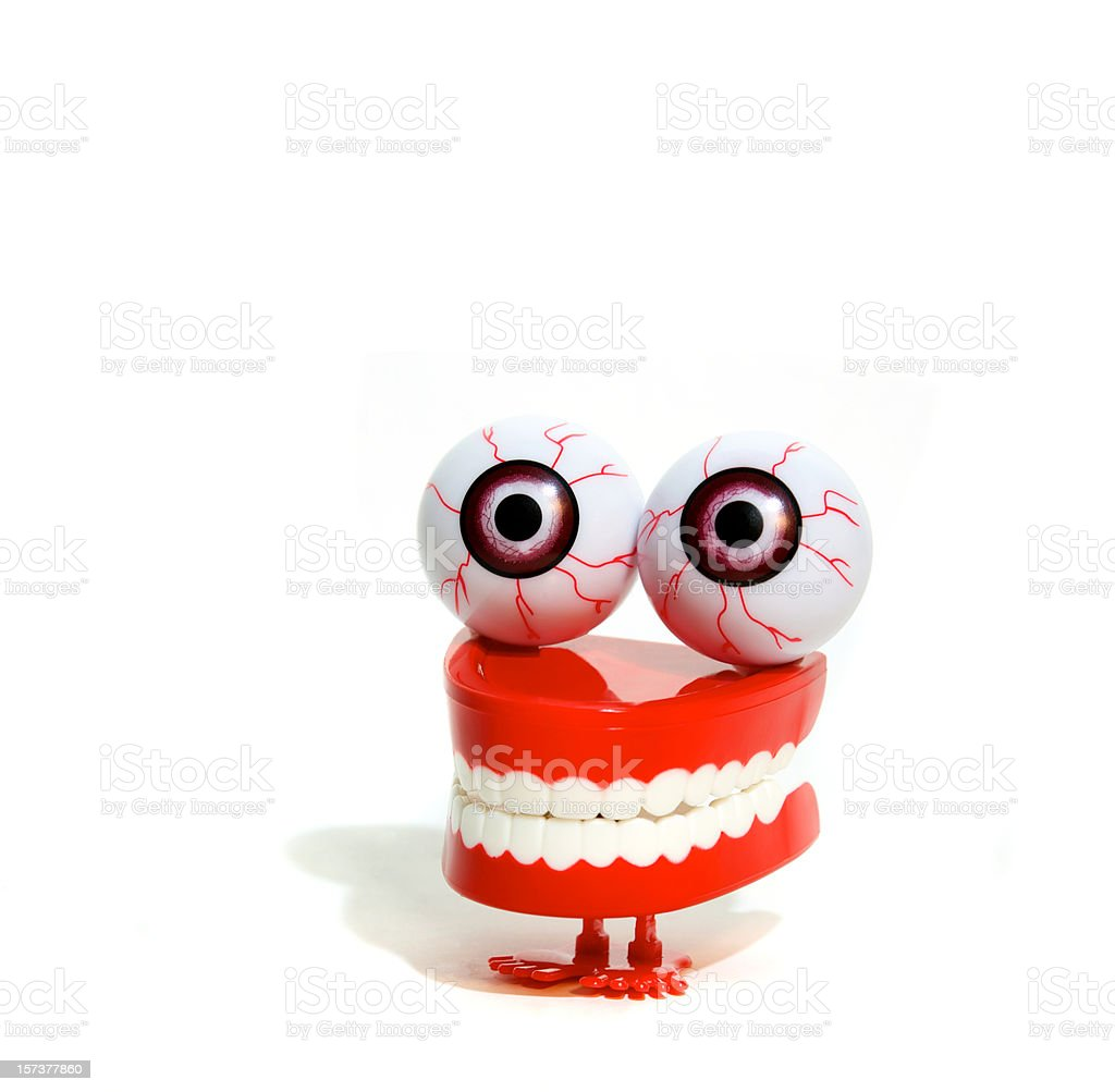 Chattering Teeth With Eyeballs royalty-free stock photo