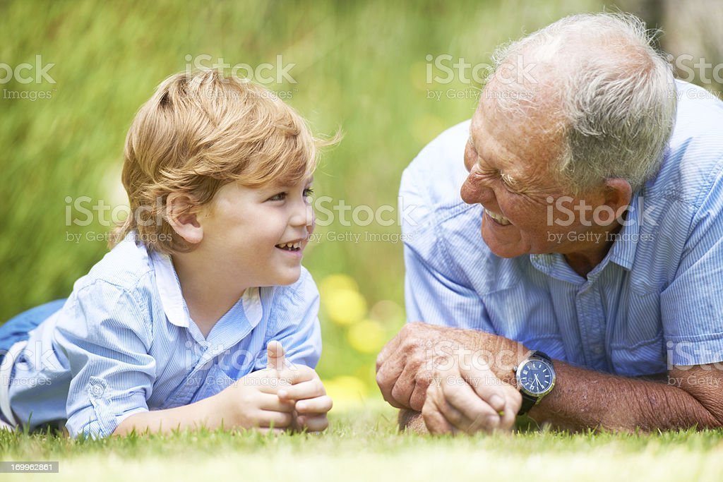 Chatting and relaxing together royalty-free stock photo