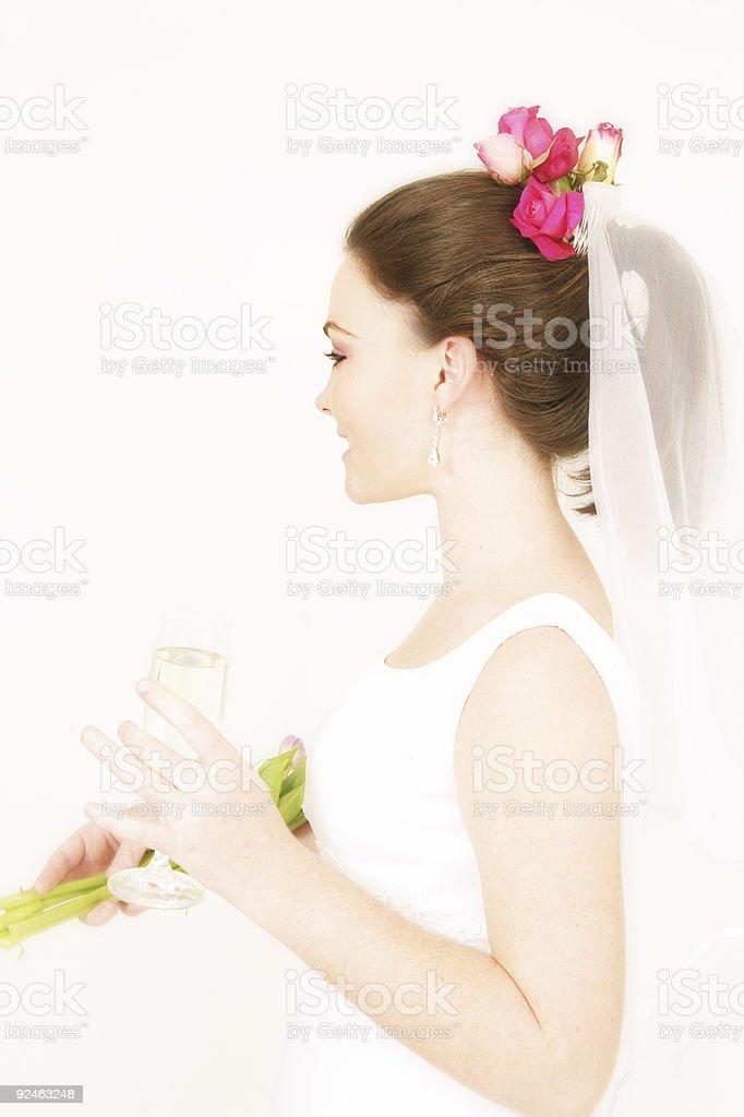 Chatting Bride stock photo