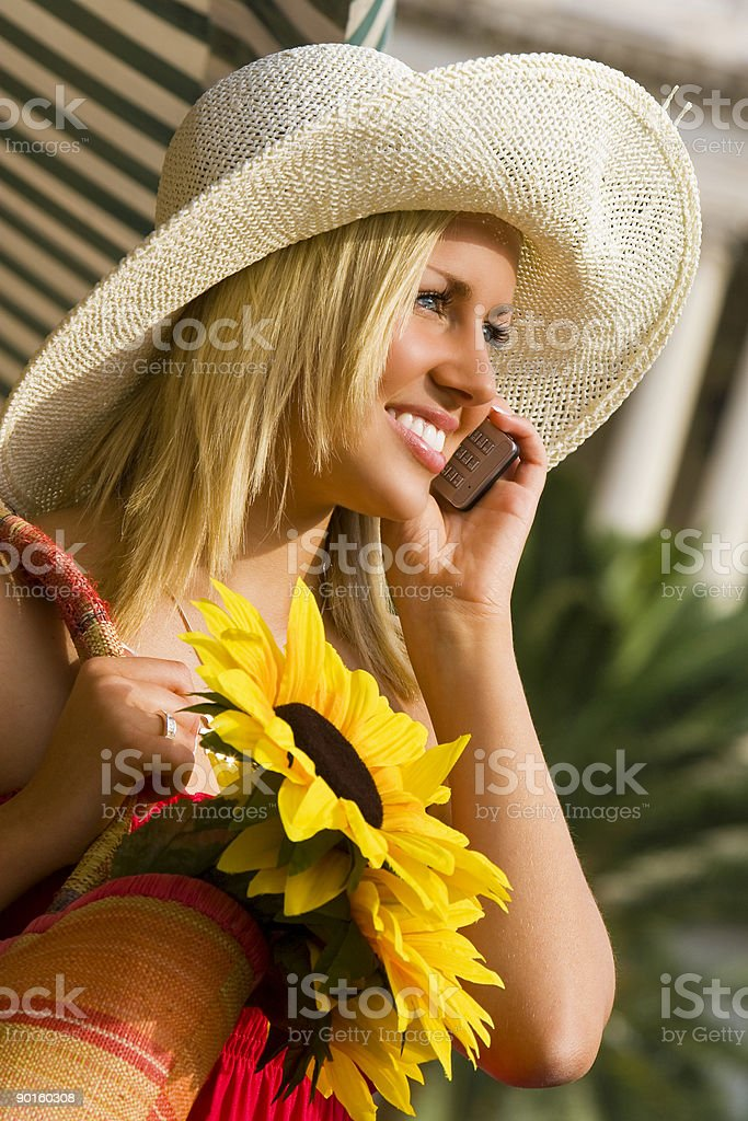 Chatting In The Sunshine royalty-free stock photo
