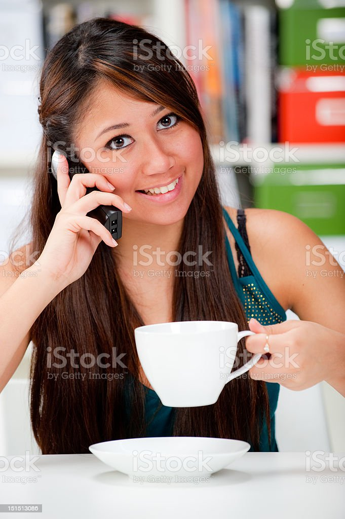 Chatting over coffee royalty-free stock photo