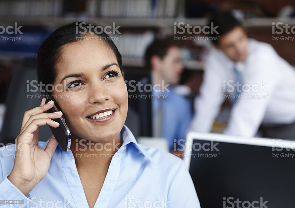 Chatting to a client royalty-free stock photo