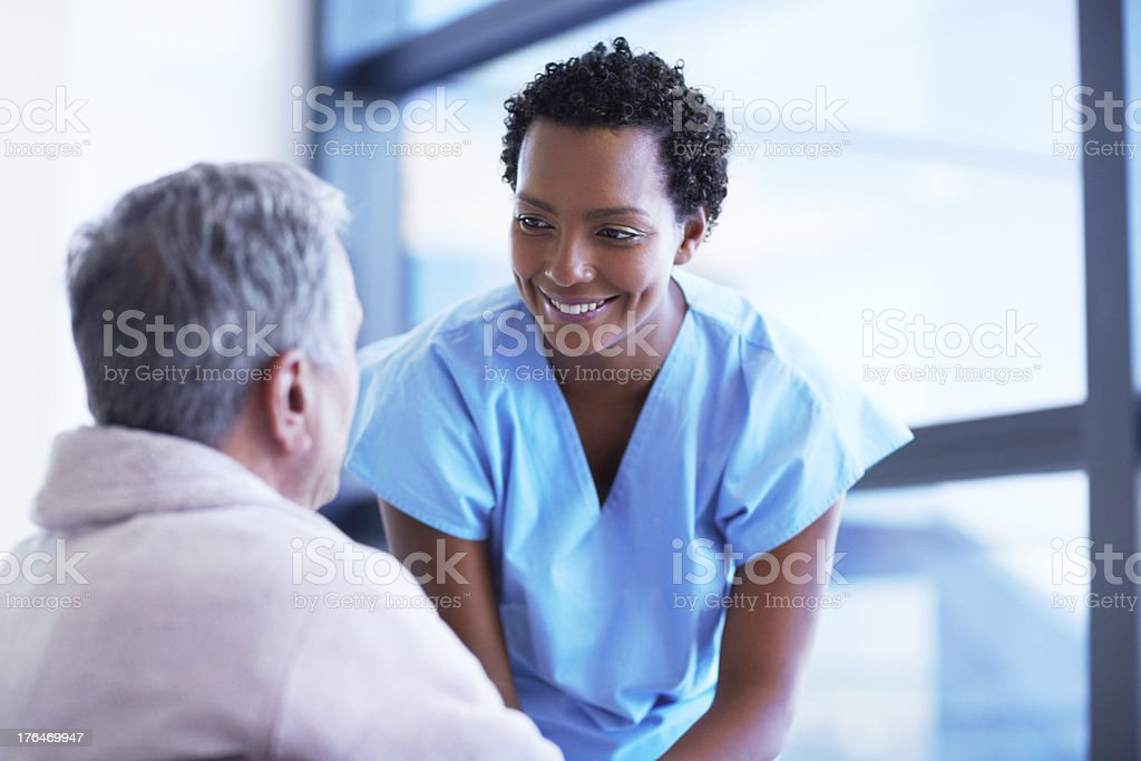 Chatting with a patient royalty-free stock photo