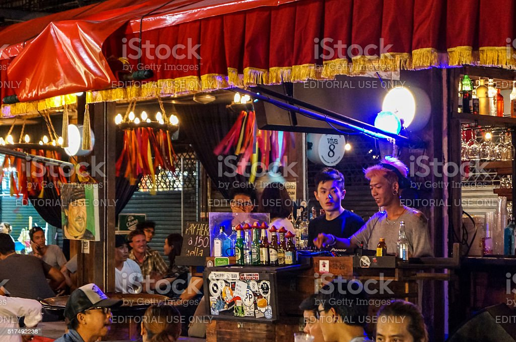 Chatuchak market Bangkok at Night stock photo