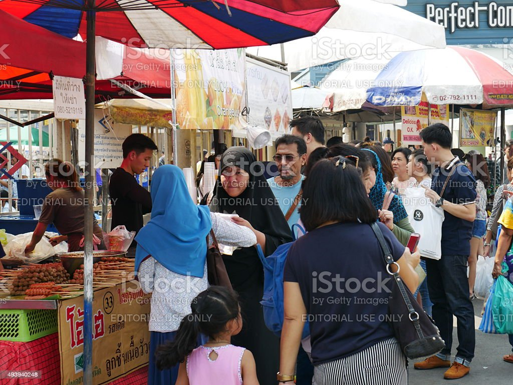 Chatuchak Weekend Market in Bangkok stock photo