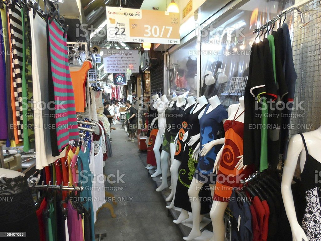 Chatuchak Weekend Market in Bangkok, Thailand royalty-free stock photo