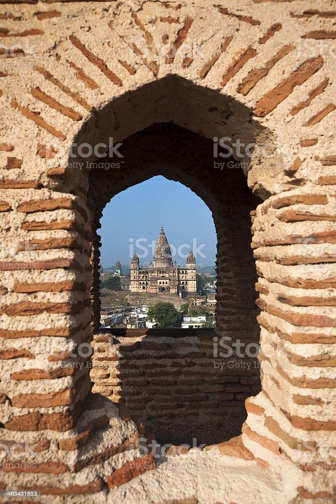 Chaturbhuj Temple of Orcha, India stock photo