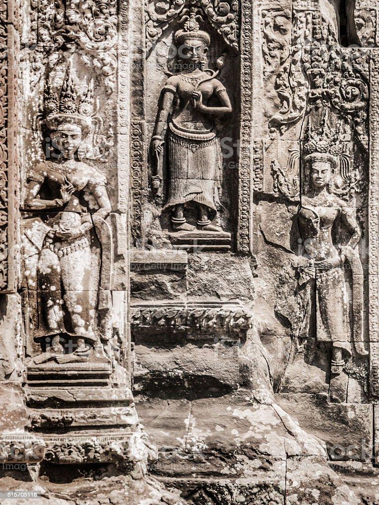 Chau Say Tevoda temple Angkor Thom Cambodia stock photo