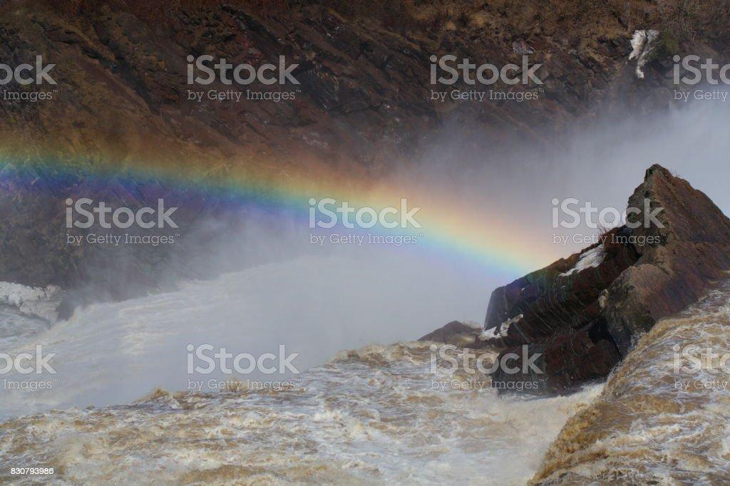 Chaudière Waterfall stock photo