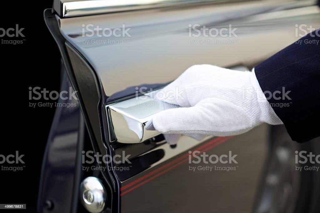 Chauffeur service stock photo