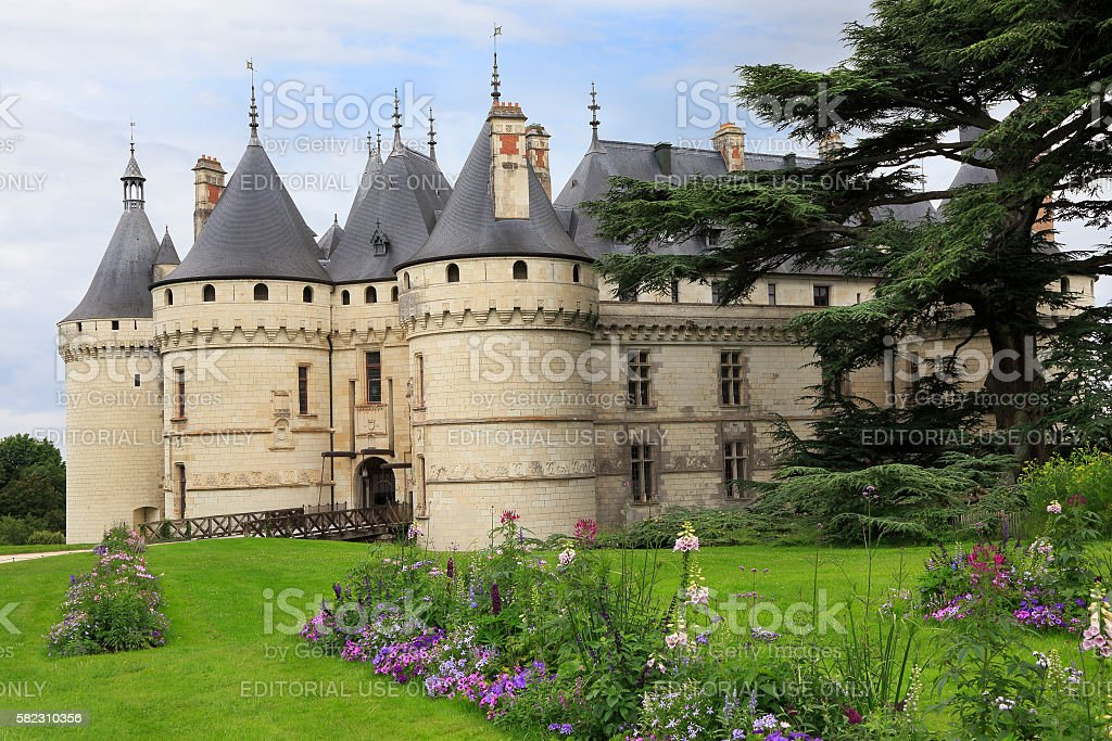 Chaumont Castle, France stock photo