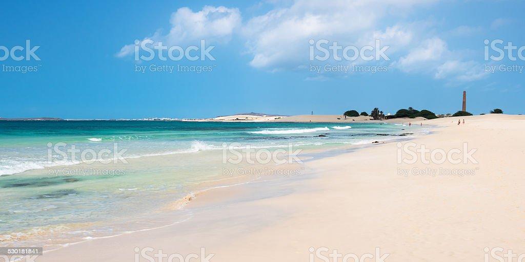 Chaves beach Praia de Chaves in Boavista Cape Verde stock photo