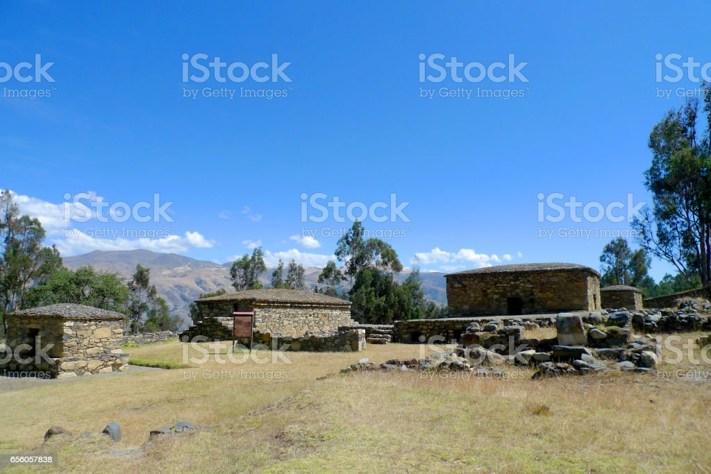 Chavín de Huántar ruins at Huaraz, Peru stock photo