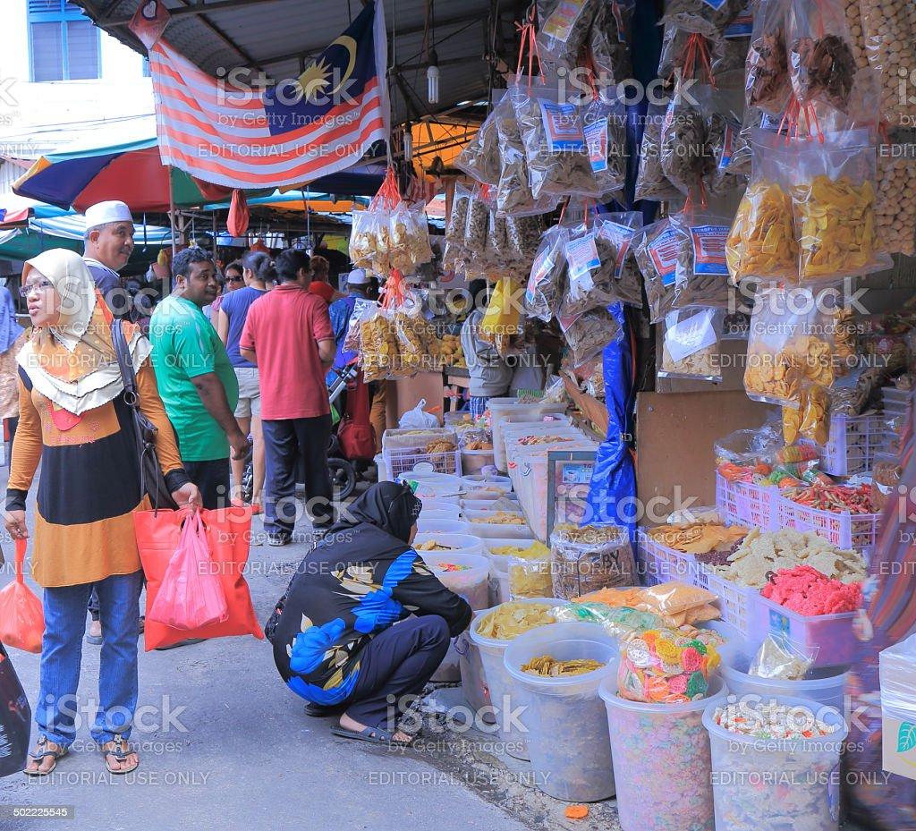 Chaw Kit local market Kuala Lumpur Malaysia stock photo