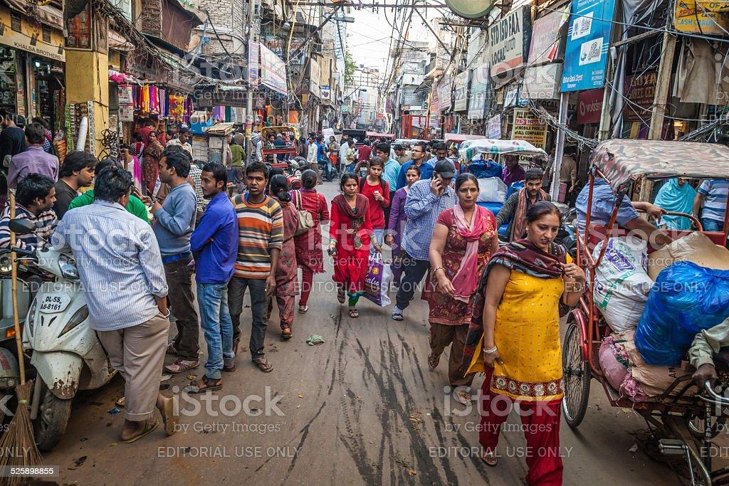 Chawri Bazar stock photo