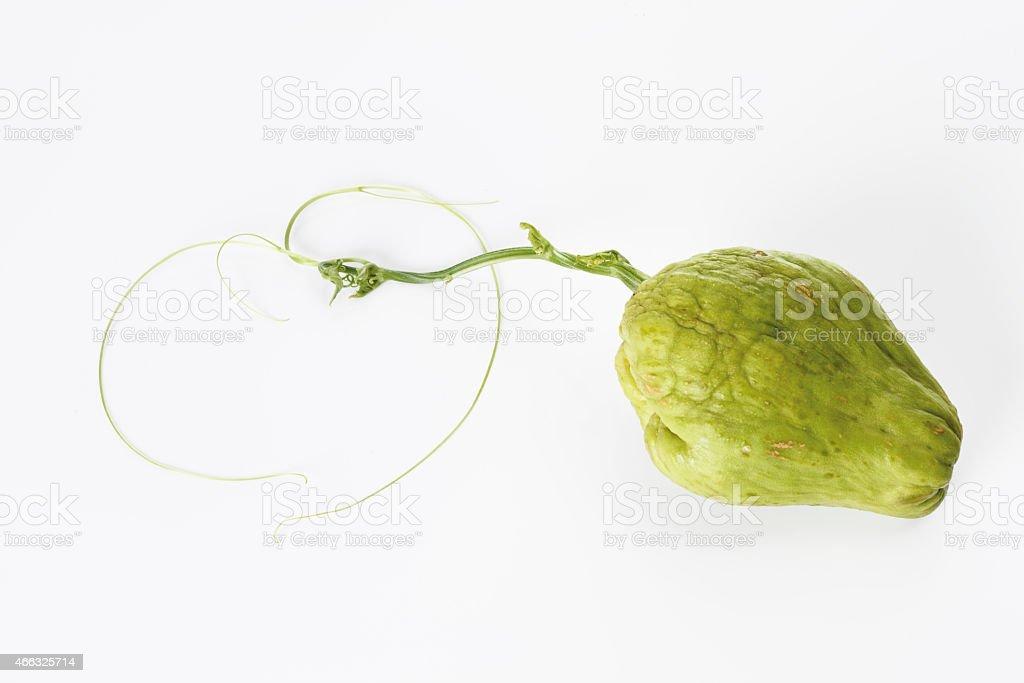 Chayote fruit (Sechium edule) stock photo