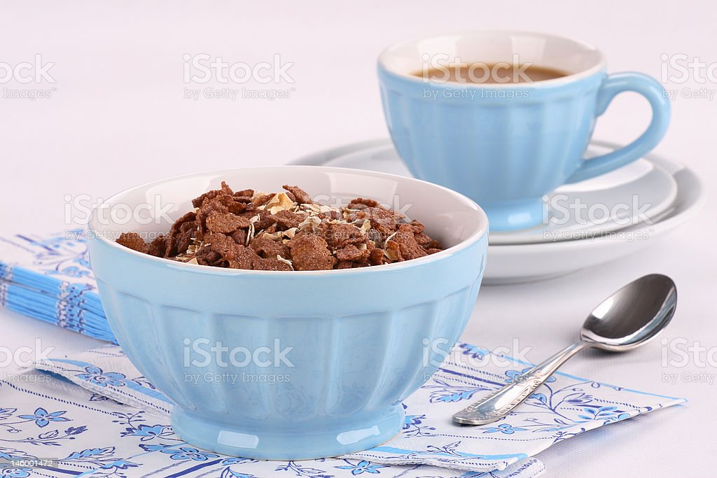 Chcolate corn flakes royalty-free stock photo