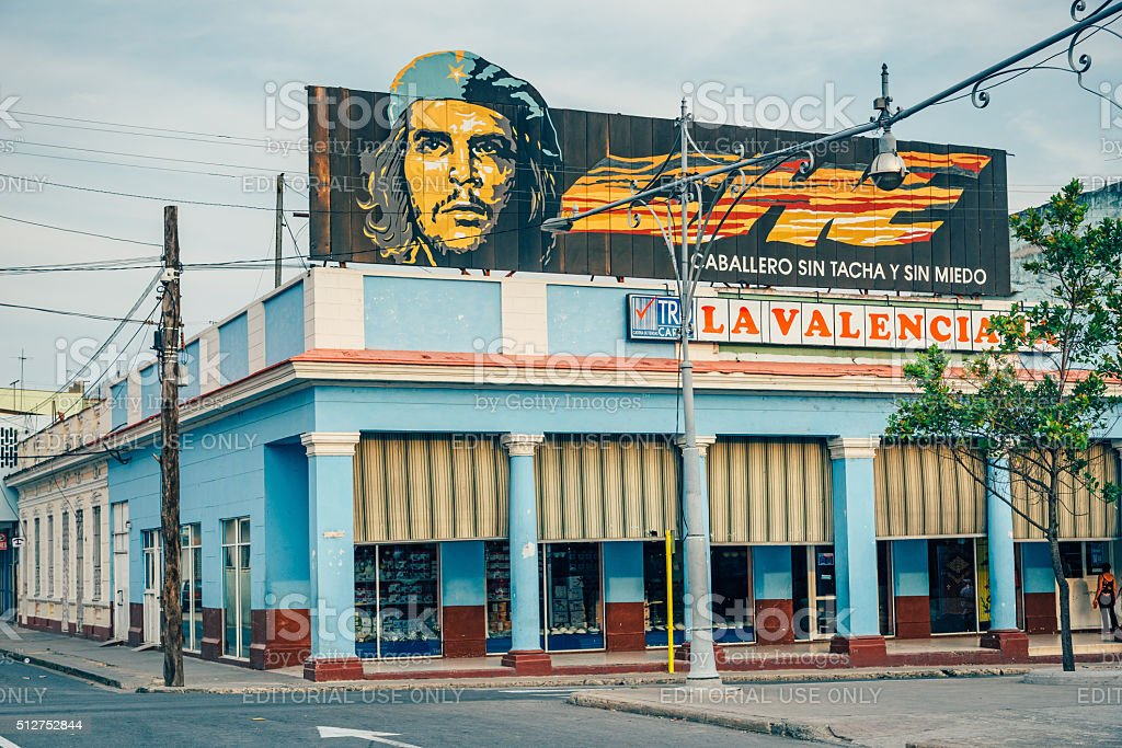 Che Guevara banner in Cuba stock photo