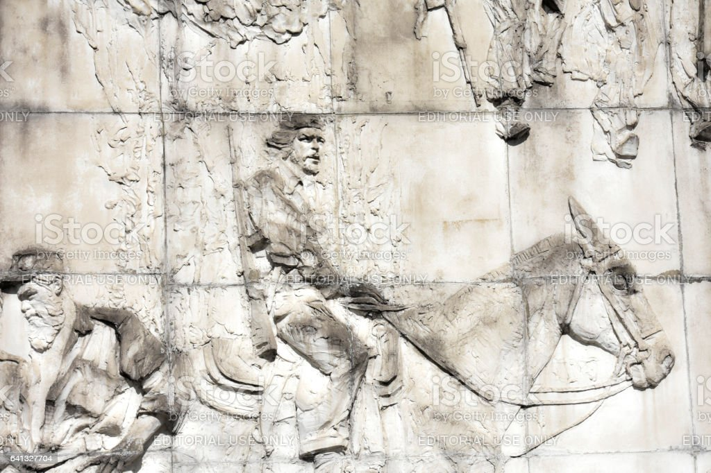 Che Guevara Bas-relief 1 (stock-photo115226635 resubmitted) stock photo