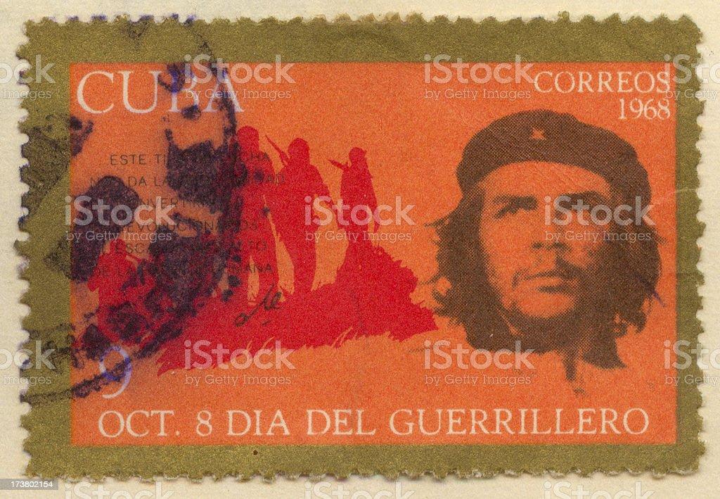 che guevara cuban stamp stock photo