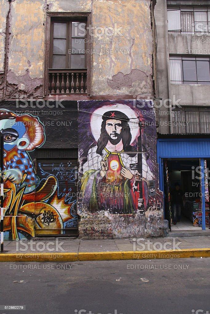 Che Guevara grafitti stock photo