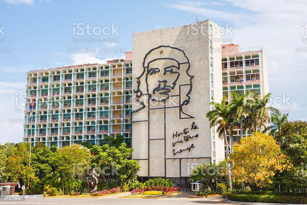 Che Guevara Mural in Havana, Cuba stock photo