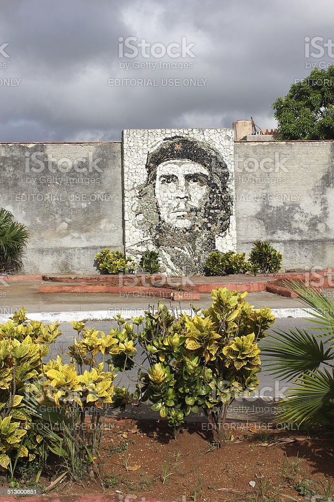 Che Guevara stone mosaic stock photo
