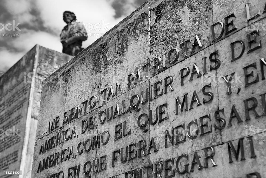 Che Guevara's Wall In Santa Clara stock photo
