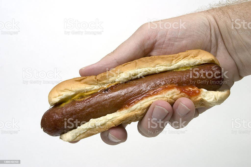 Cheap Hotdog stock photo