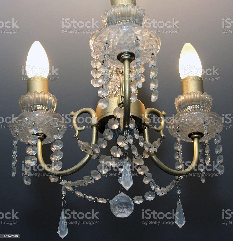 Cheap modern chandelier royalty-free stock photo