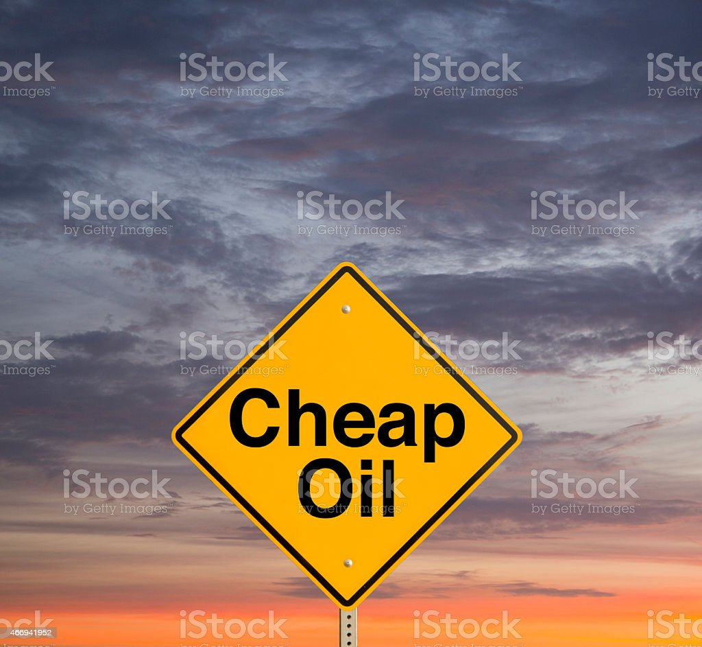 Cheap Oil stock photo