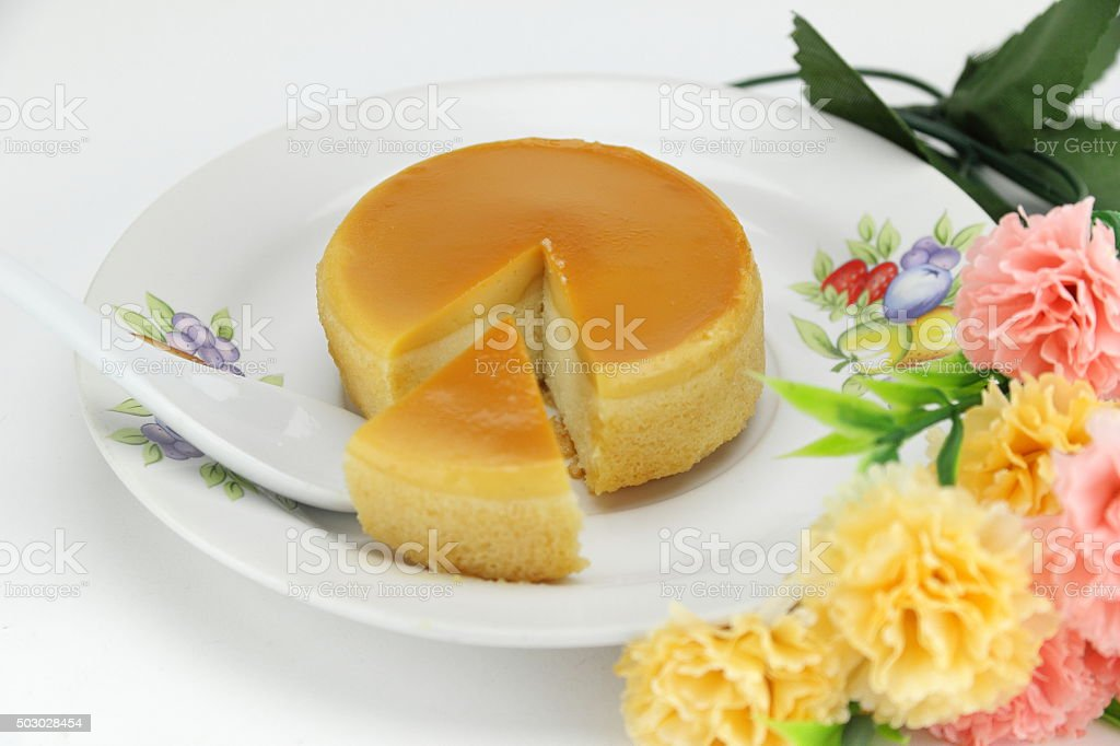 Cheap parallel cake Is sold in the market in Thailand stock photo