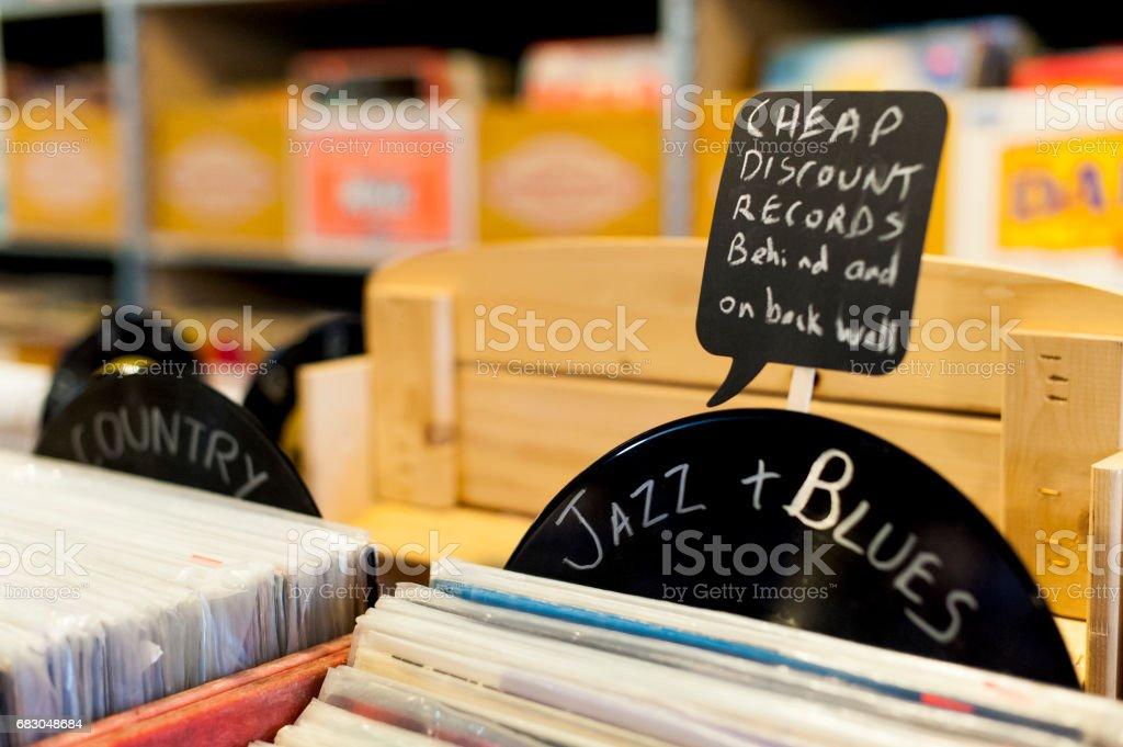 Cheap Records stock photo