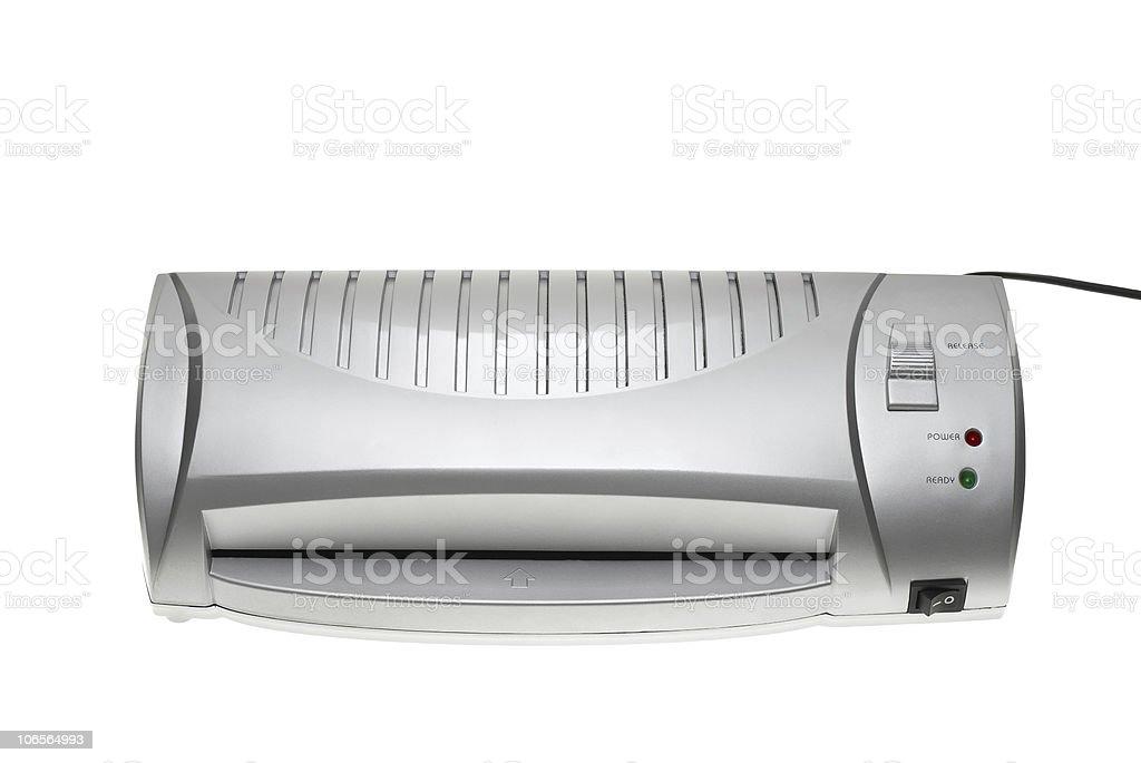 Cheap silver laminator stock photo