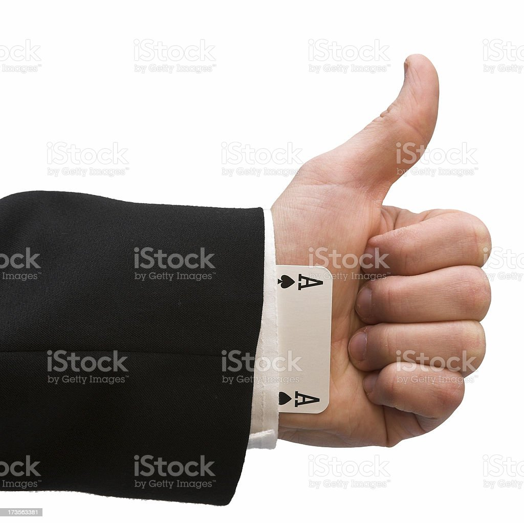 Cheater's approval royalty-free stock photo