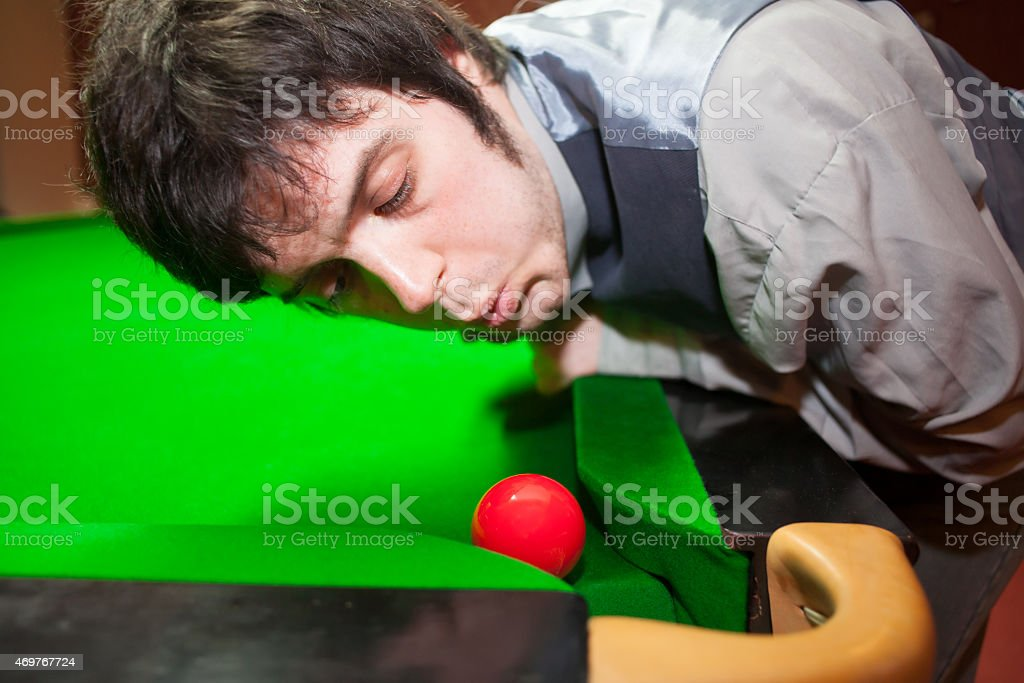 cheating at snooker stock photo