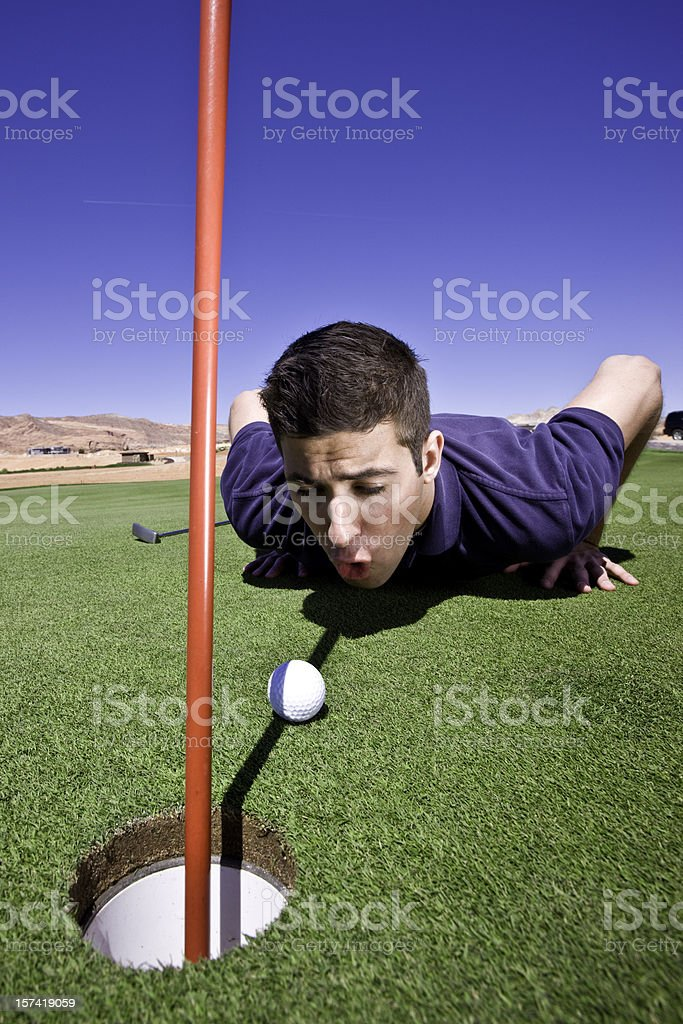 Cheating Golf Player royalty-free stock photo