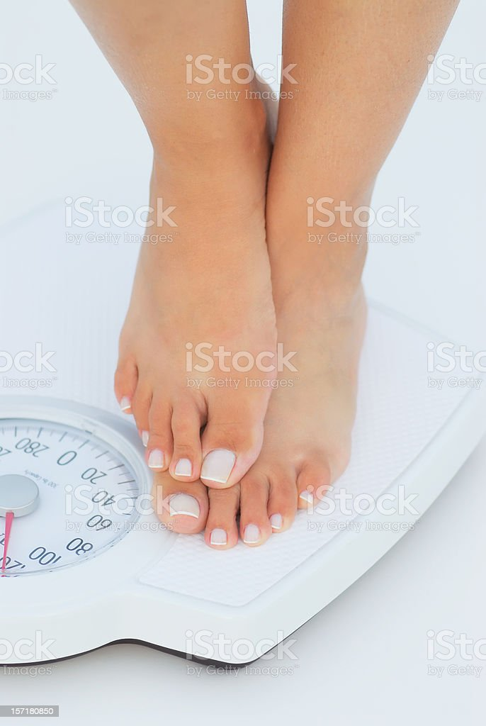 cheating in the scale stock photo