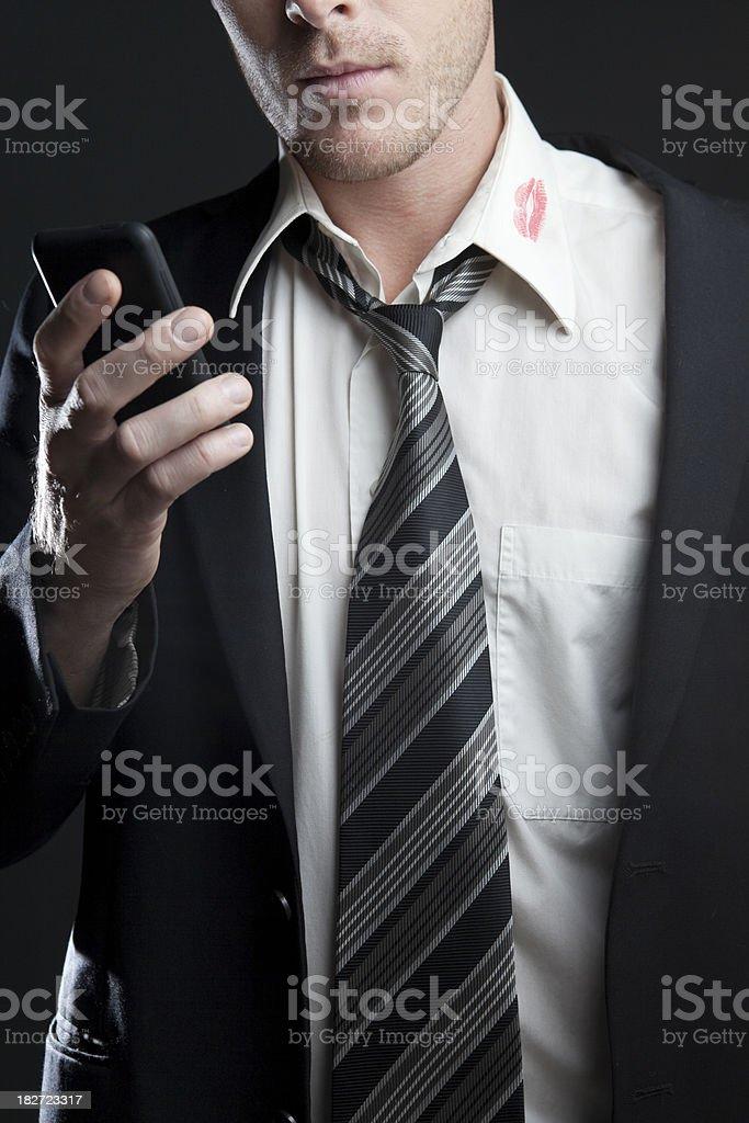 Cheating Man stock photo