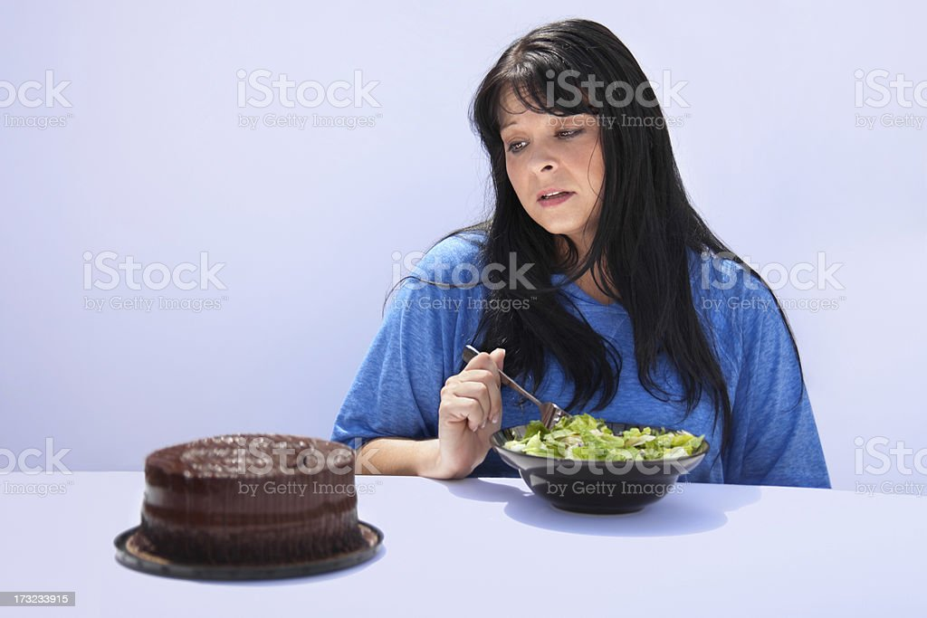 Cheating on your Diet royalty-free stock photo