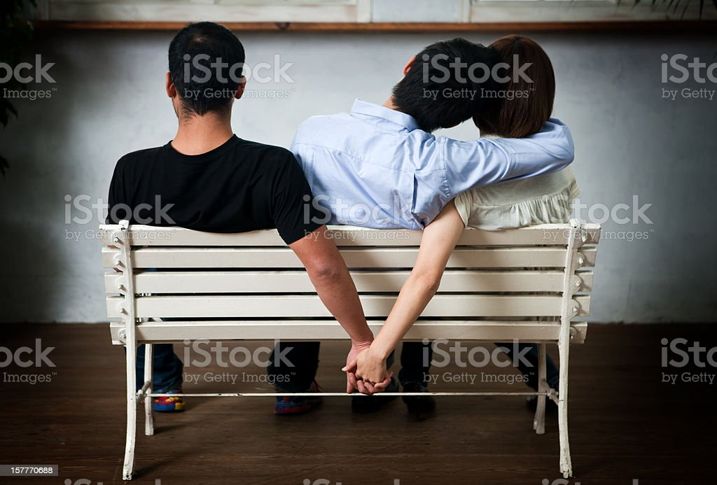 Cheating stock photo