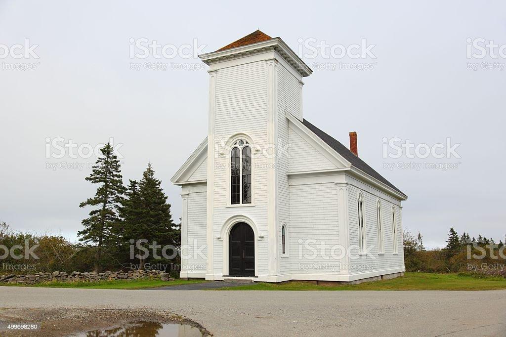 Chebogue Church stock photo