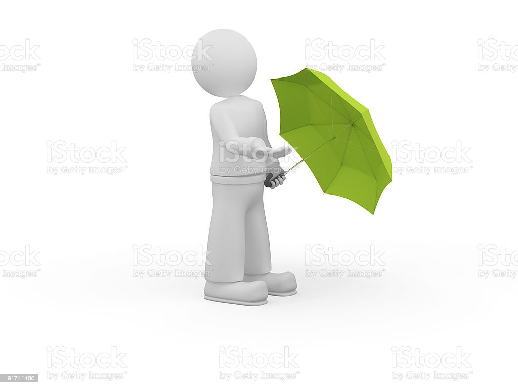 Checing for the rain. royalty-free stock photo