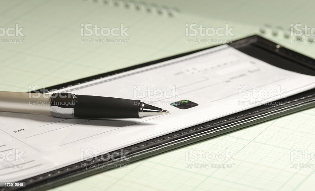 Check and pen. royalty-free stock photo