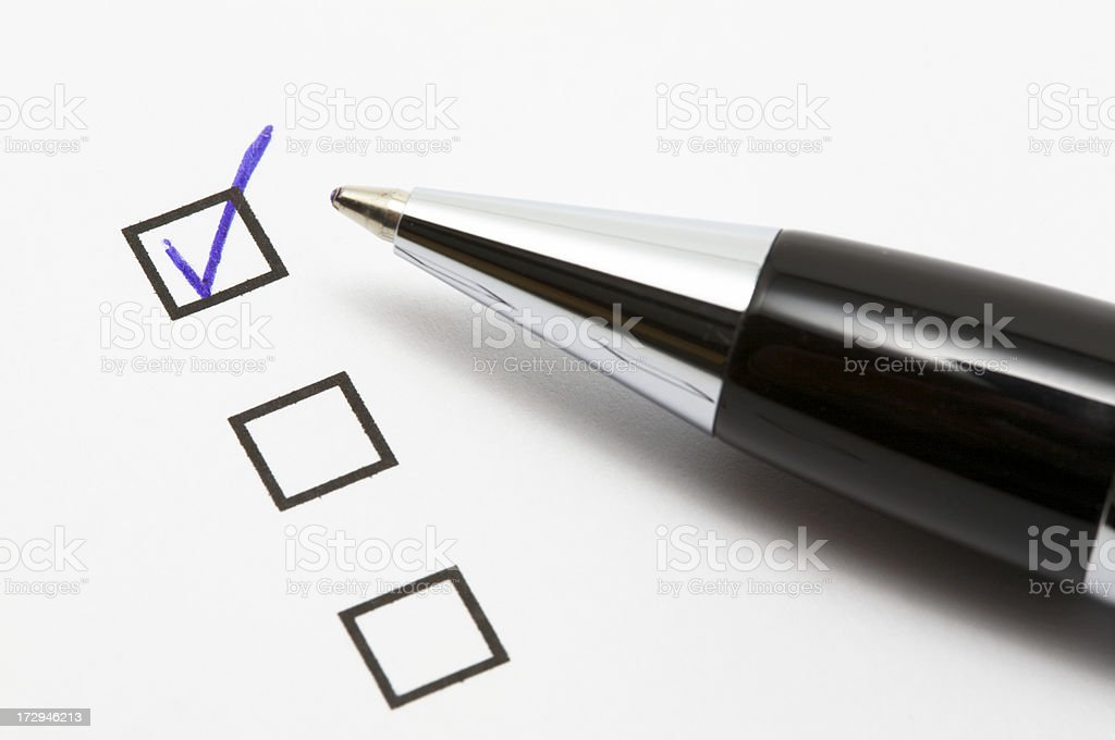 Check Box stock photo